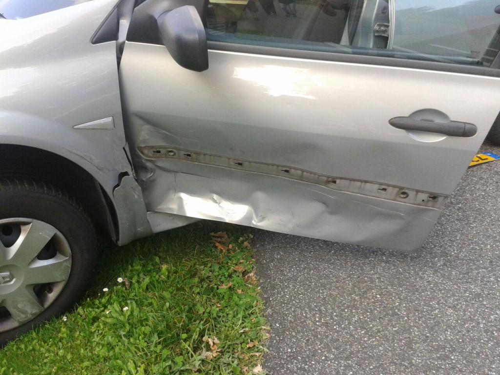 Een ongeluk zit in een klein hoekje