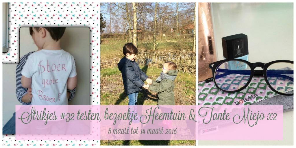Strikjes #32 testen, bezoekje Heemtuin & Tante Miejo x2