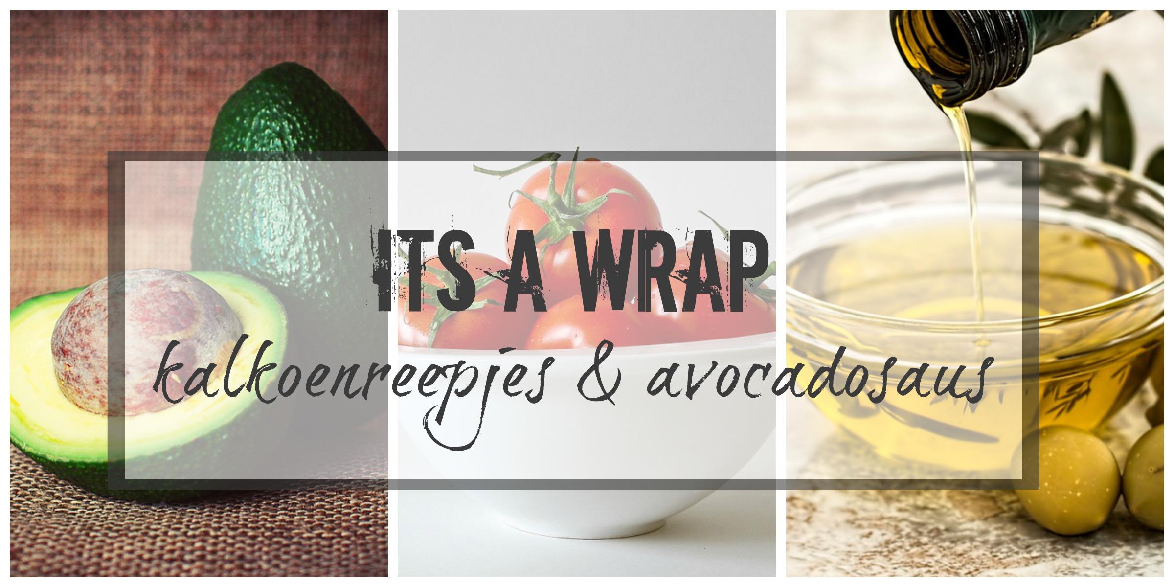 Wraps met kalkoenreepjes en avocadosaus