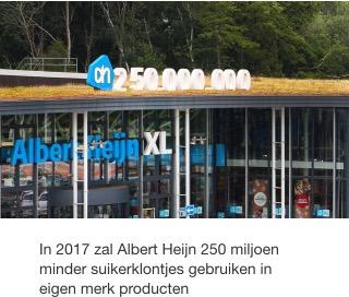 Minder suiker bij Albert Heijn