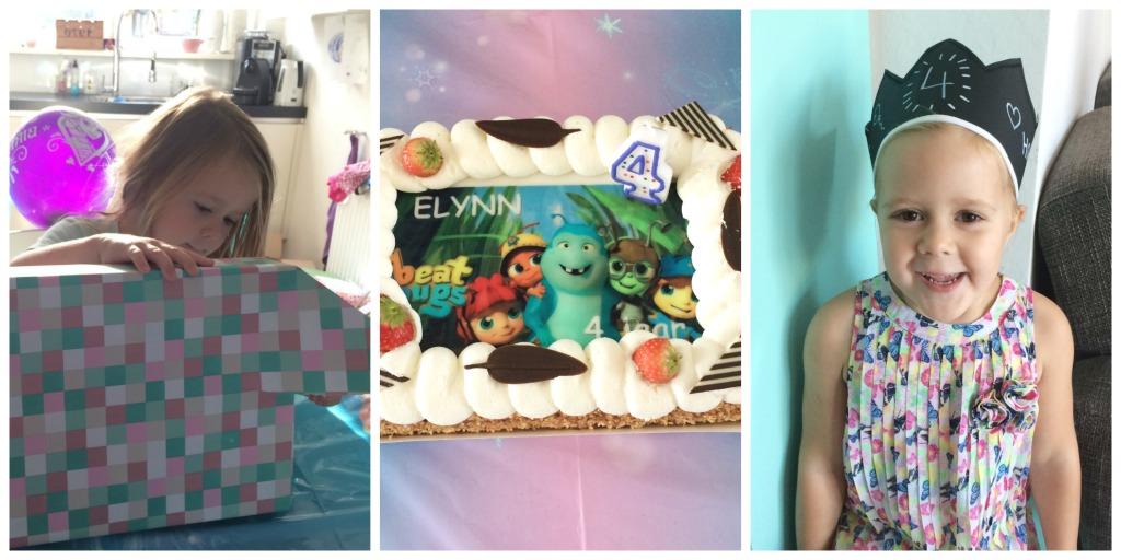 Hoe ik Elynn haar vierde verjaardag met jullie vier