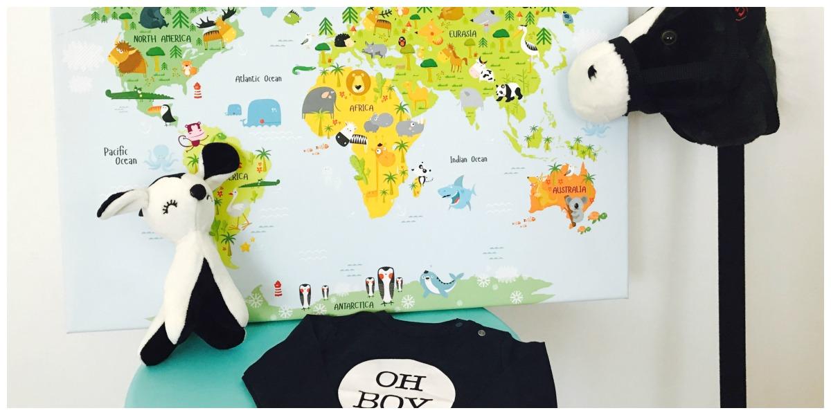 Wereldkaart als decoratie