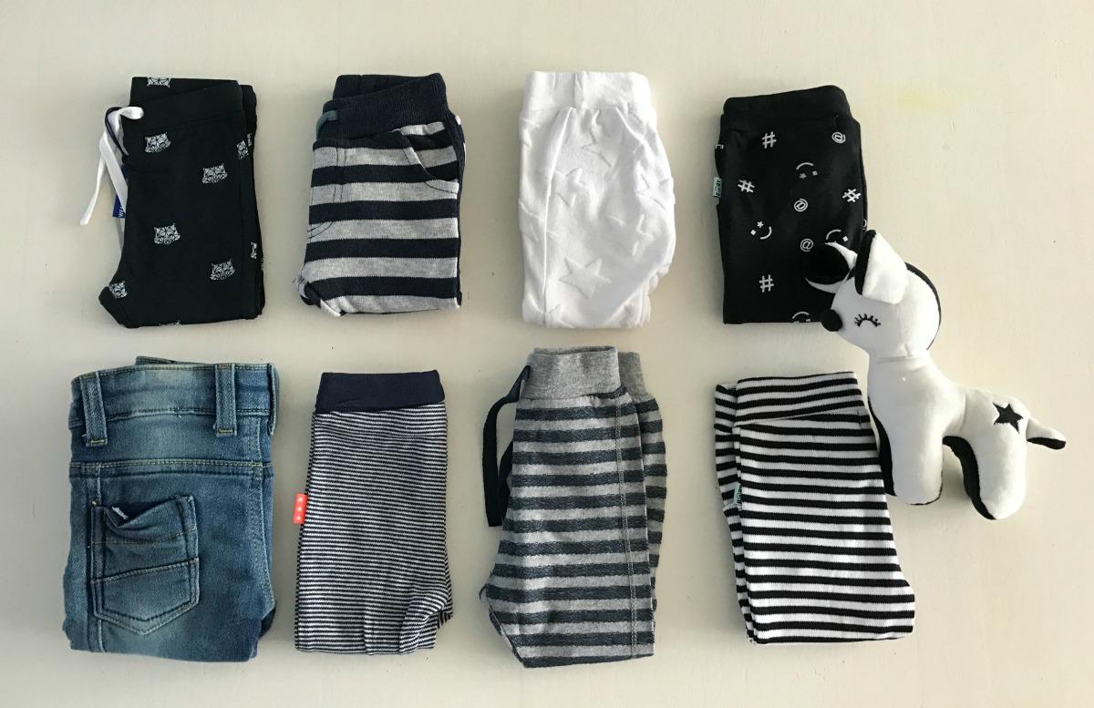 Garderobe van Mini3 tot nu toe
