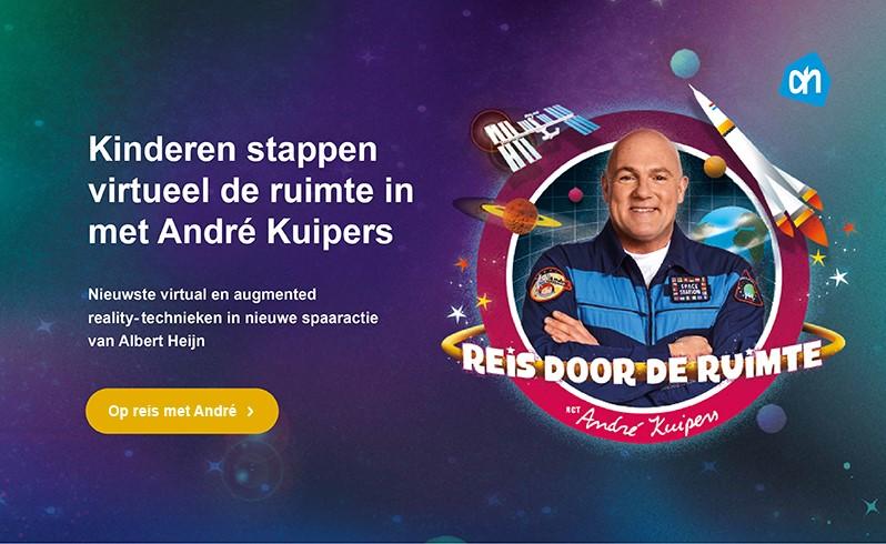 Met André Kuipers en AH de ruimte in