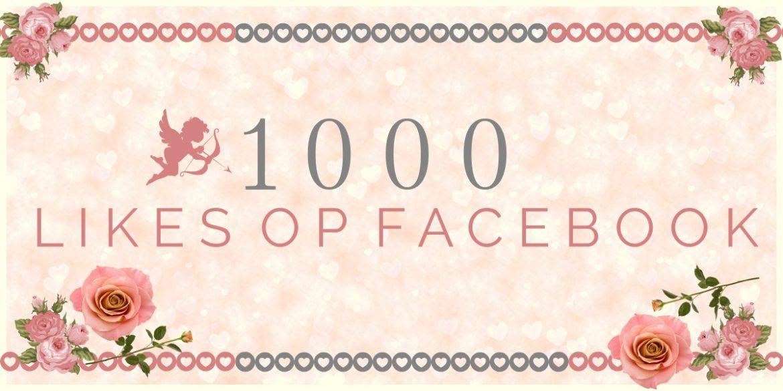 1000 likes op Facebook