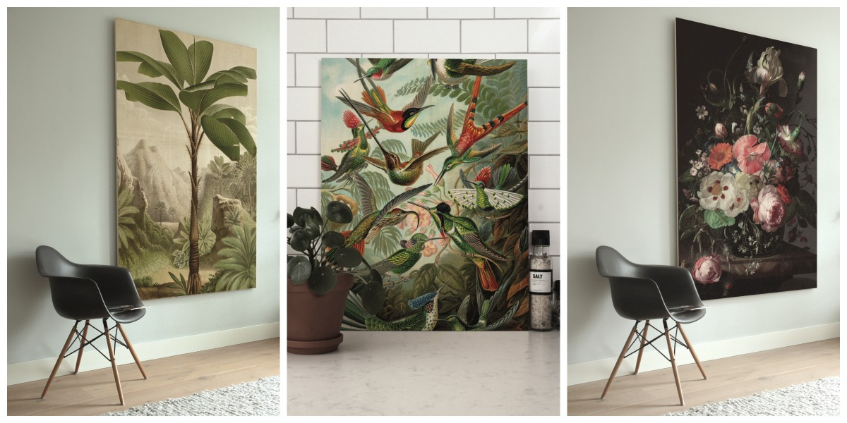 Stijlvolle prints op hout Collage