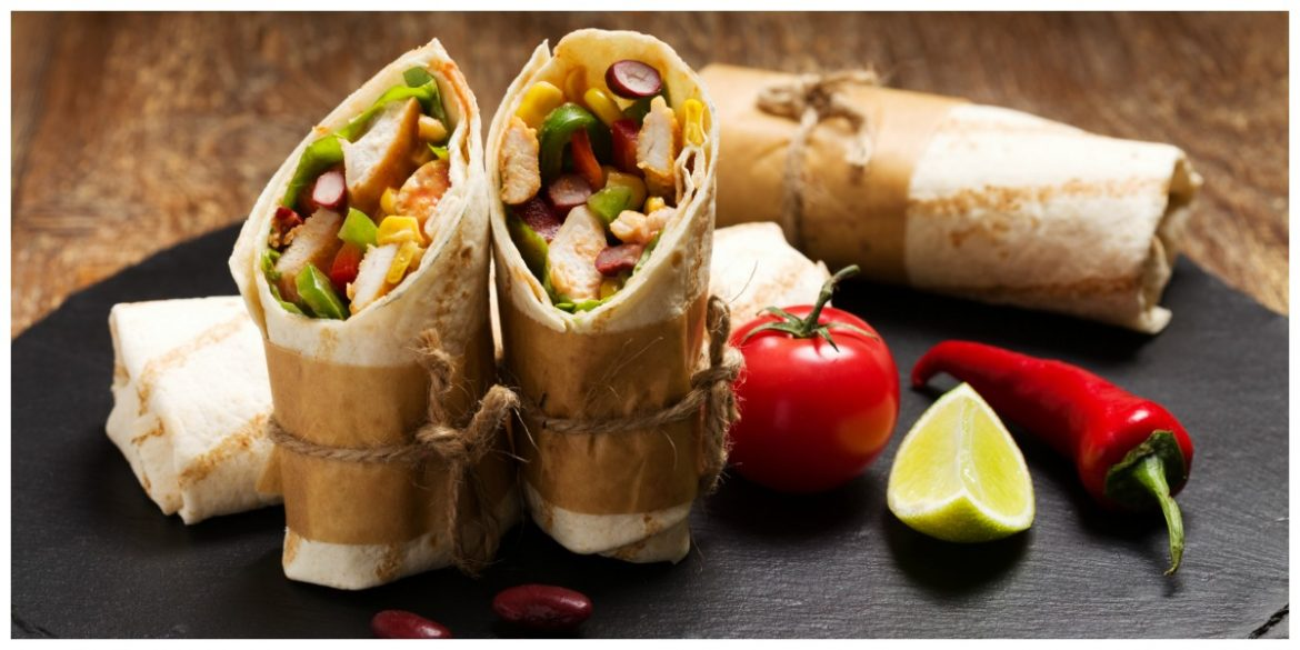 Wraps met Sticky Chicken Mexican Style