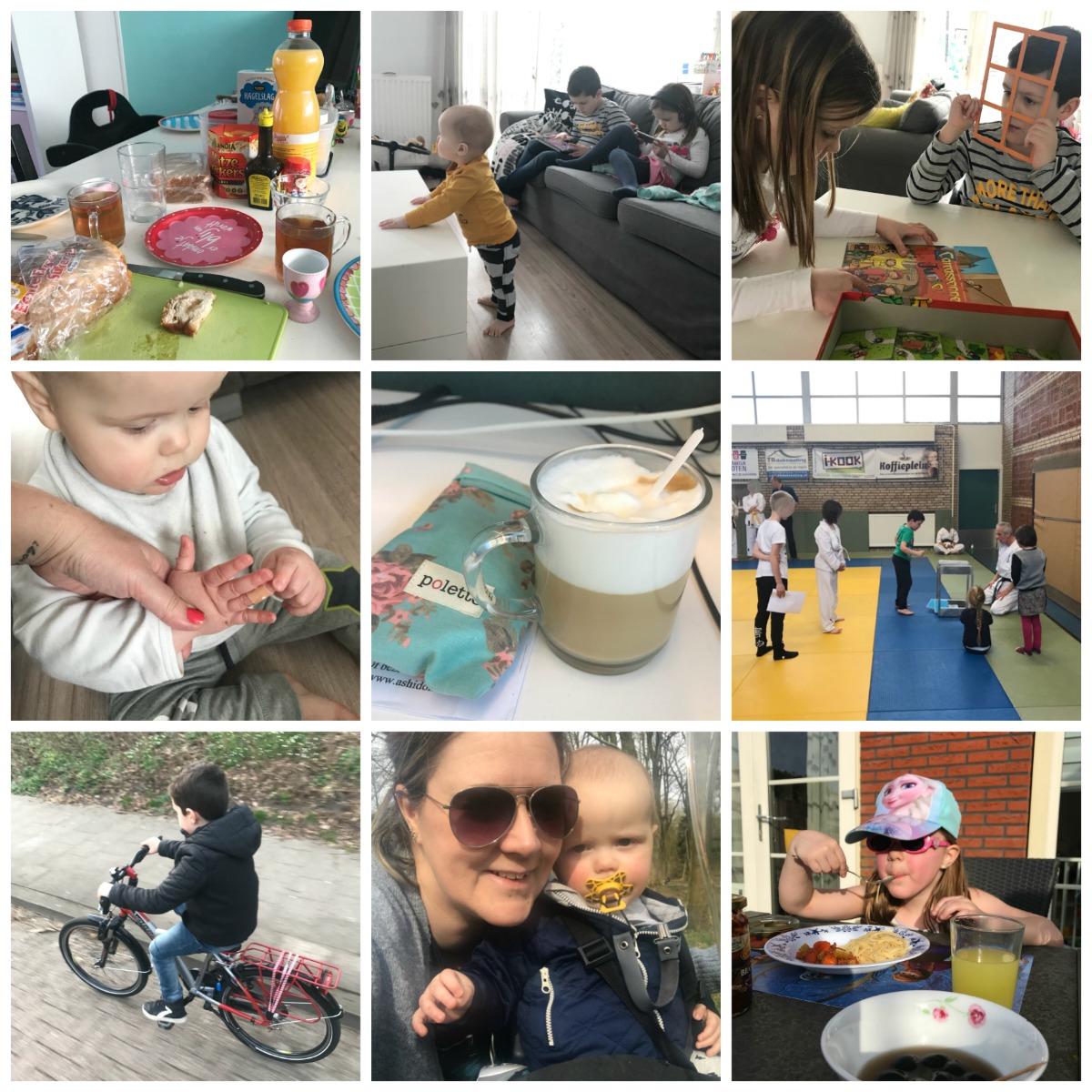 Tweede Paasdag, eerste keer op de fiets en buiten eten