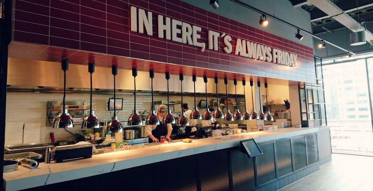 American Bar & Grill Restaurant TGI Fridaysin Utrecht