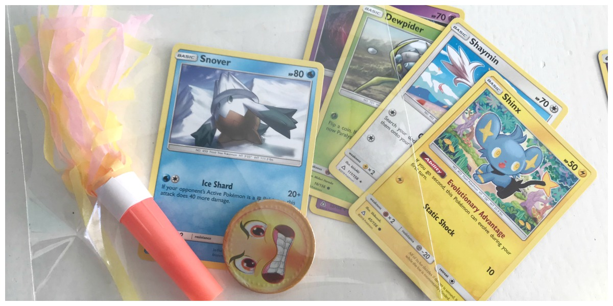 Pokemonkaart uitdeel traktatie