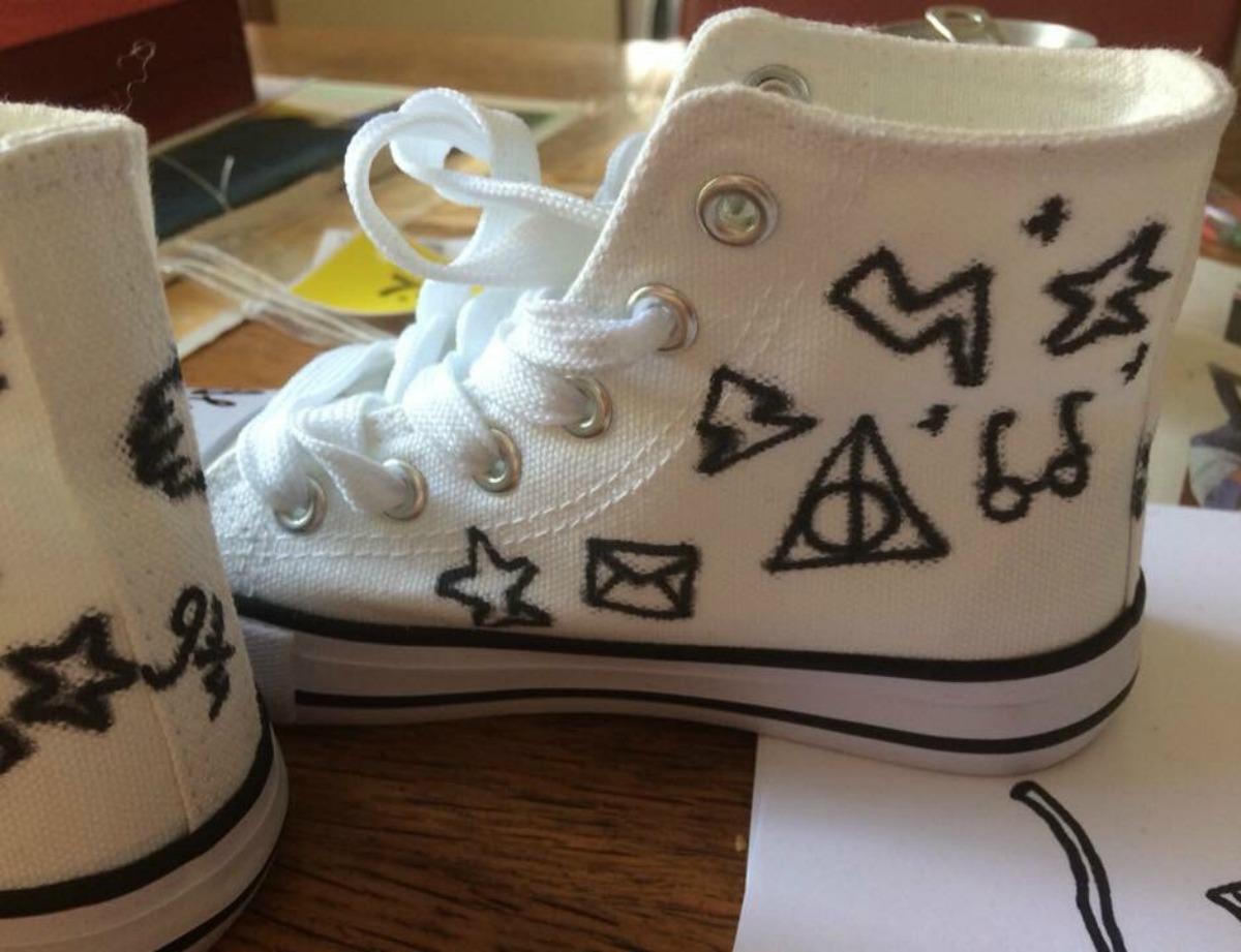 Harry Potter schoenen pimpen DIY