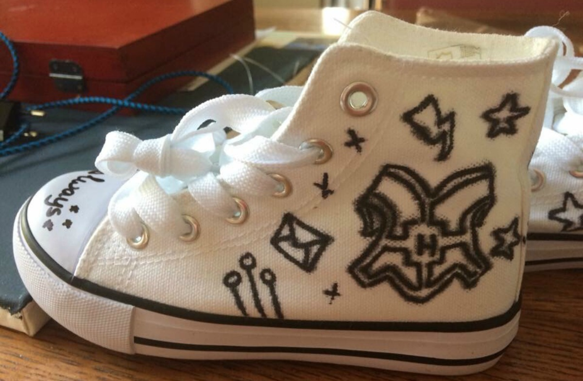 Harry Potter schoenen DIY schoenen pimpen