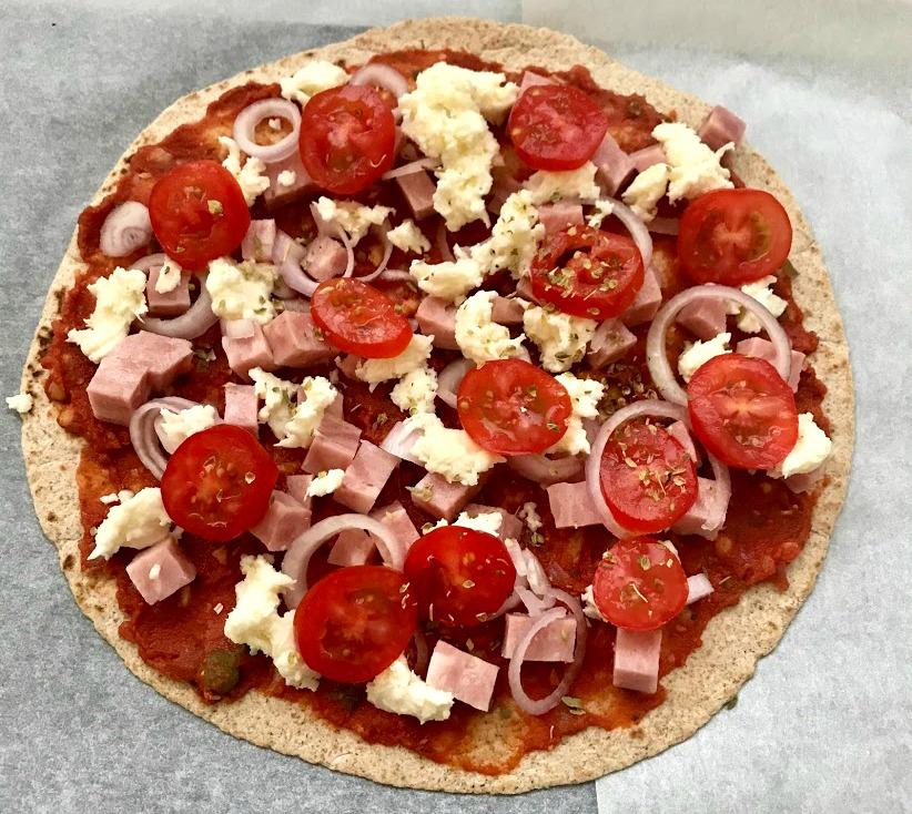 Wrappizza met ham