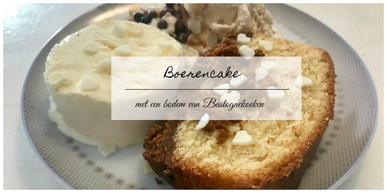 Boerencake met een bodem van Bastognekoeken