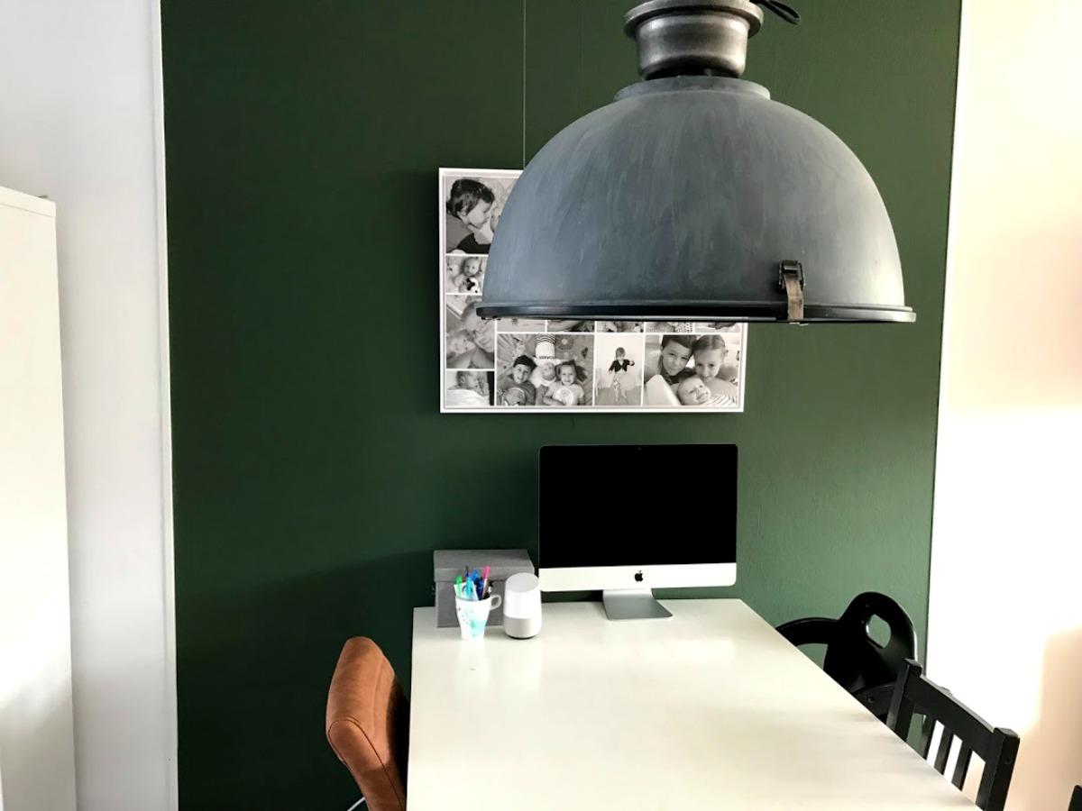 XXL industriële hanglamp Folklore groen en cognac
