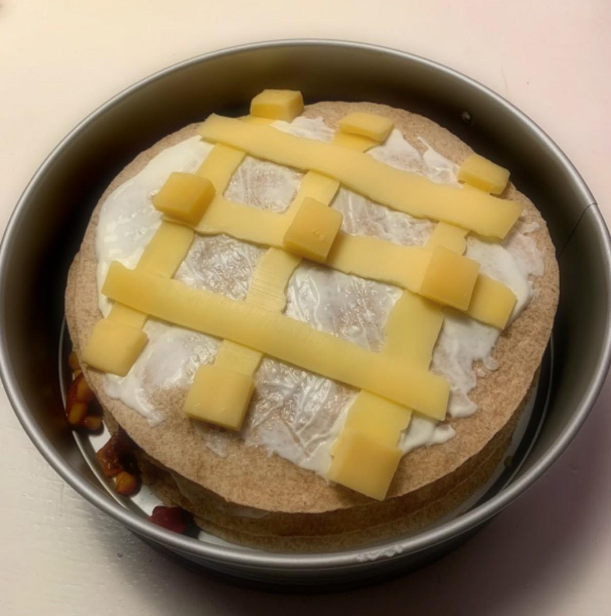 Wraptaart met crème fraîche