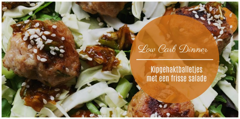 lowcarb meal, Oosterse kipgehaktballetjes met een frisse salade