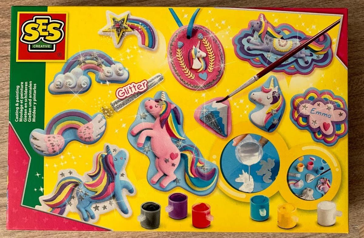 SES creative gieten en schilderen eenhoorns