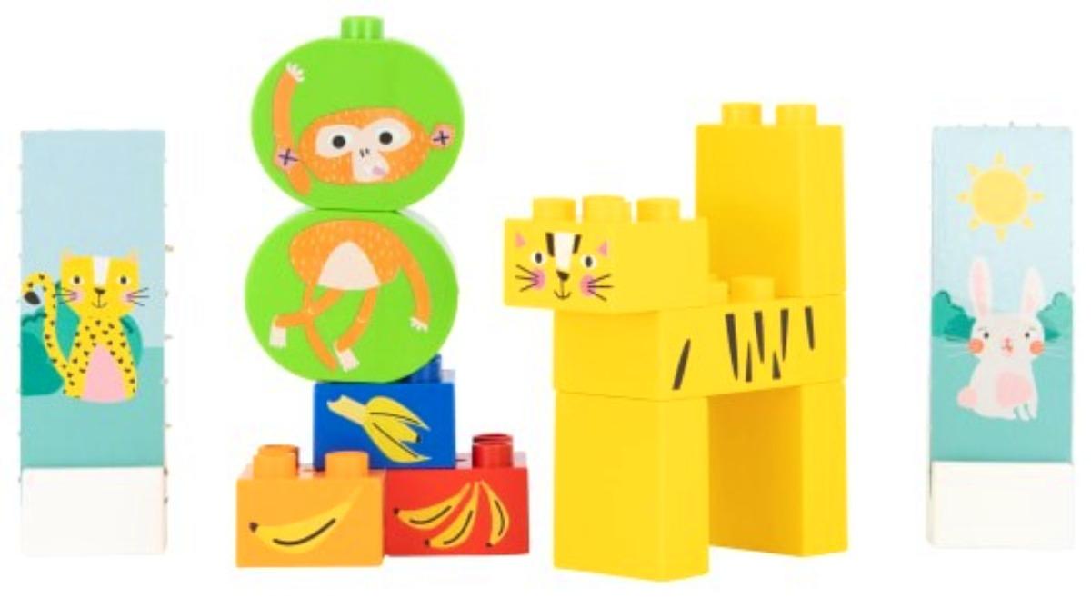 Bioplastic speelgoed van HEMA tijger jungle aap