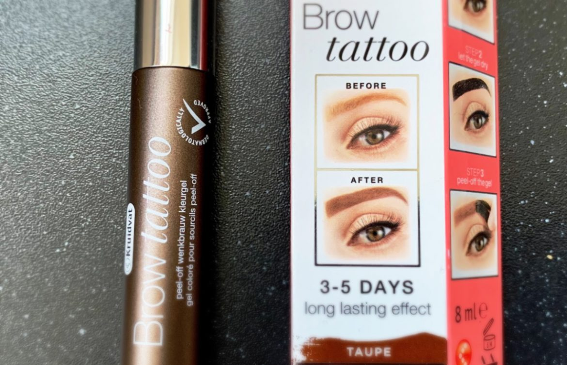 brow tattoo taupe, DIY wenkbrauwtatoeage, Brow tattoo Kruidvat • Review