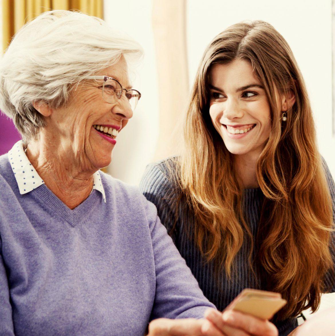 Hartenvragen Echt contact met moeder of oma