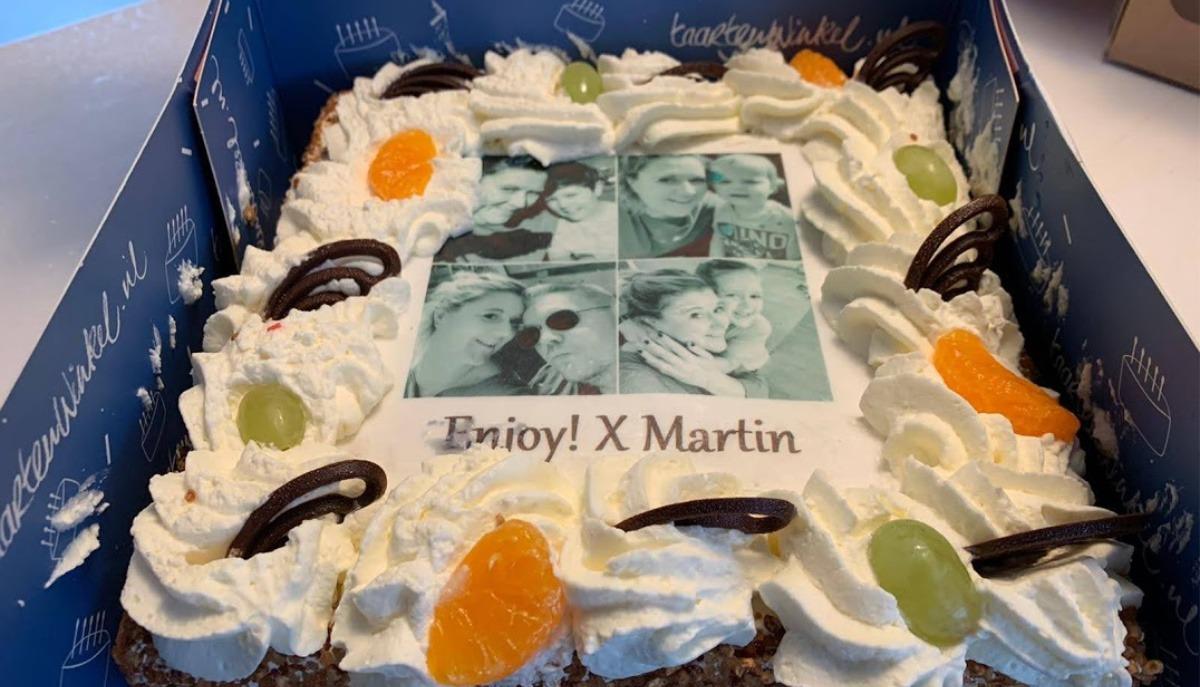 week 1 thuis corona vrijdag taart martine