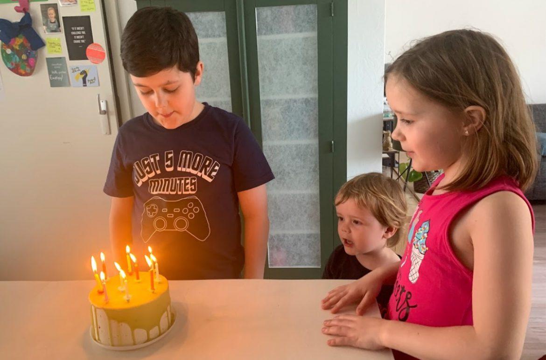 verjaardagstaart hema thomas tien jaar