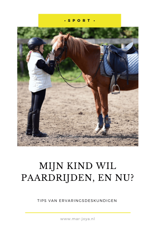 Paardrijles kind