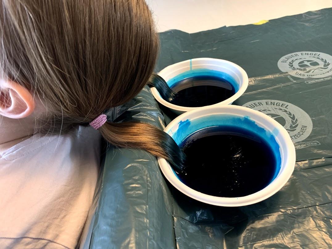 haarverven tijdelijke haarkleuring crepepapier