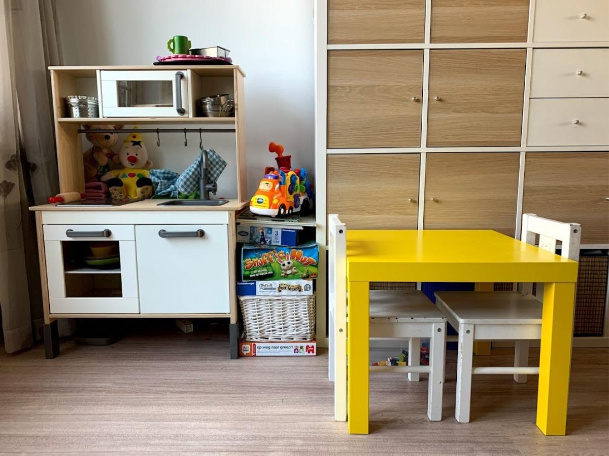 ruimte voor een Legotafel, kinderhoek kinderspel