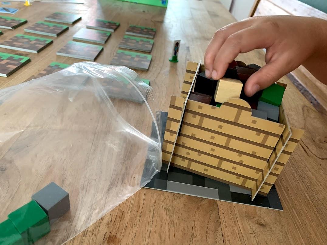 bordspel minecraft blokkenstapel
