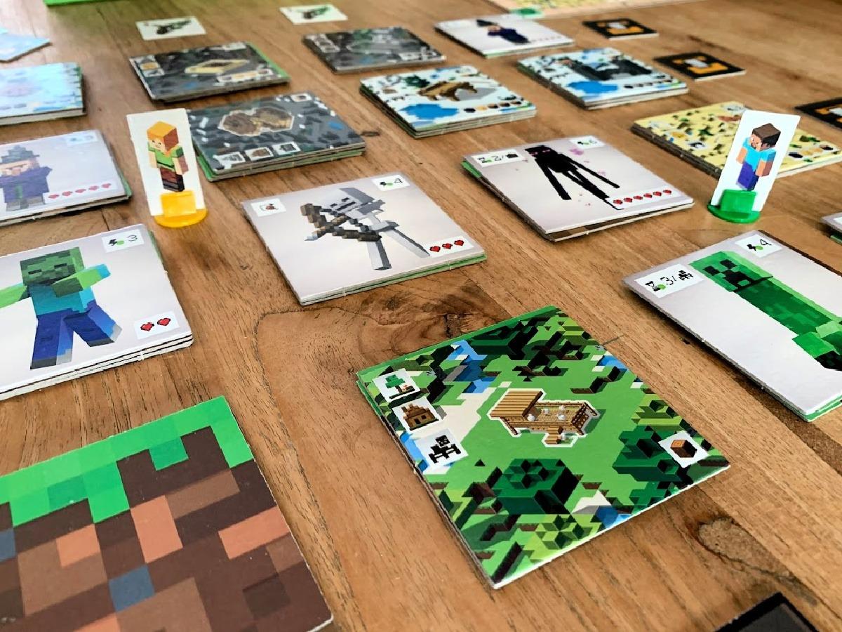 bordspel minecraft raster 4x4