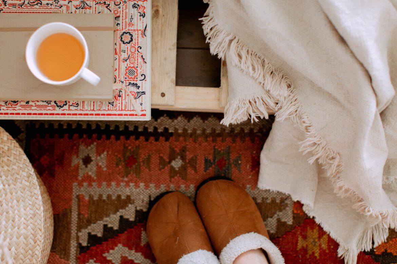 sloffen, pantoffels, winter