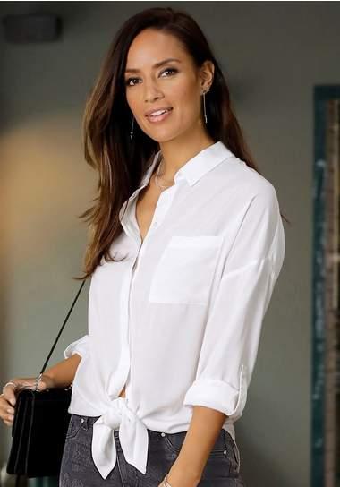 lascana-lange-blouse-wit-zakelijk