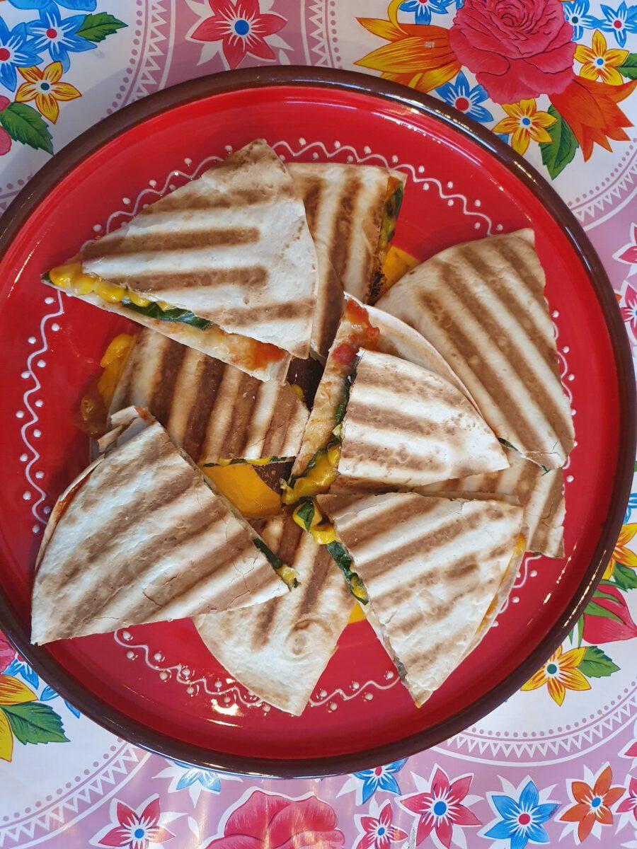 quesadillas, Eten met intolerantie voor koemelk