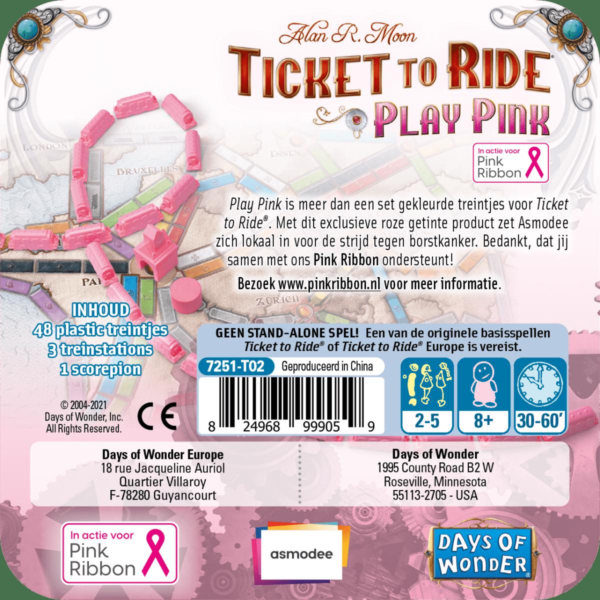 roze uitbreidingsset ticket to ride