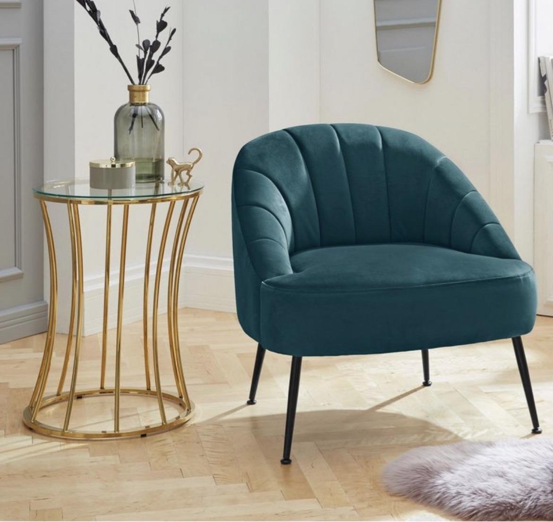 fauteuil Quincy met zachte fluwele bekleding