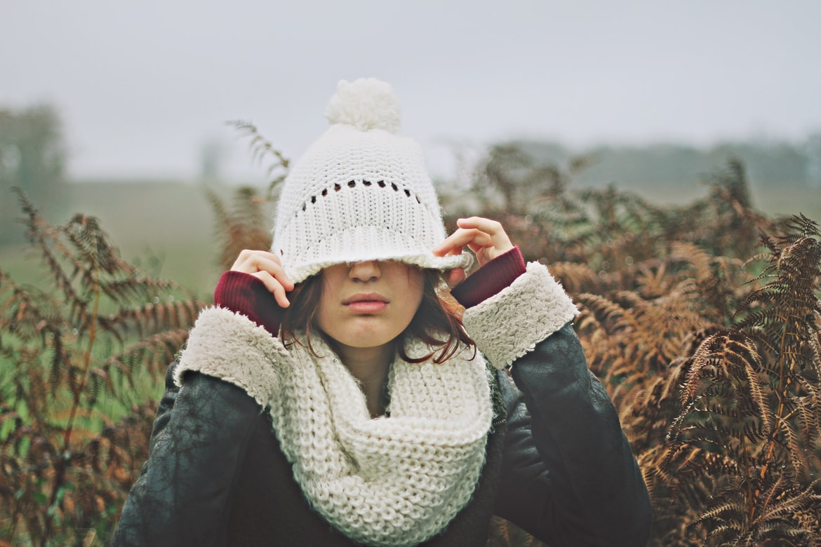 warm white knitted